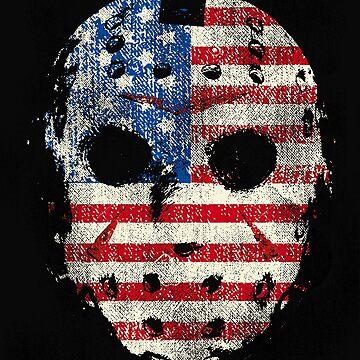 Grunge Jason Horror Movie Spoof Flag Mask by GarnetLeslie