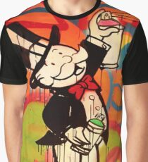 Spray Paint - Rich Uncle Pennybags Graphic T-Shirt