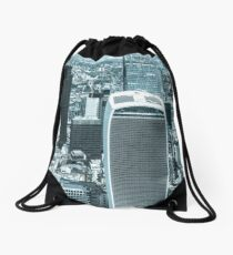 London City scape with a blue hue Drawstring Bag