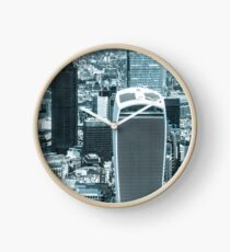 London City scape with a blue hue Clock