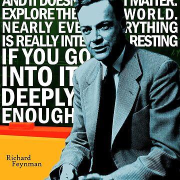 Richard Feynman by pahleeloola