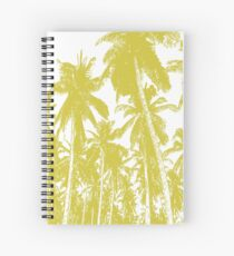 Palm Trees in a Posterised Design Spiral Notebook