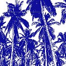 Palm Trees in a Posterised Design by Nigel Sutherland