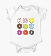 Doughnuts Short Sleeve Baby One-Piece