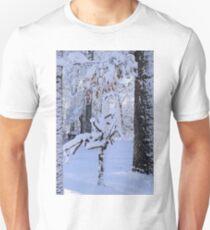 Sculpture tree in snow Unisex T-Shirt