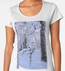 Sculpture tree in snow Women's Premium T-Shirt