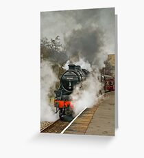 Black FIve 'The Sherwood Forester' at Rawtenstall Greeting Card