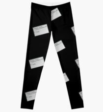 Lebowski's tape bowling playoffs Leggings