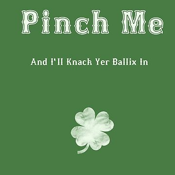 Pinch Me St Patrick's Day Funny by Hazlo