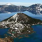 Wizard Island in Crater Lake National Park, Oregon by photomatte