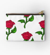 Stained Glass Rose Studio Pouch