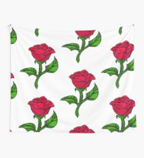 Stained Glass Rose Wall Tapestry