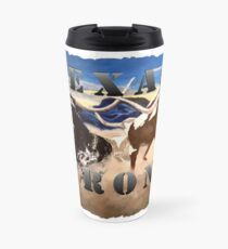 Texas Strong Longhorn Original Painting on Print Travel Mug