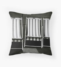 Three Stripy Chairs Floor Pillow
