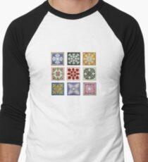Hawaiian Quilt Sampler Men's Baseball ¾ T-Shirt