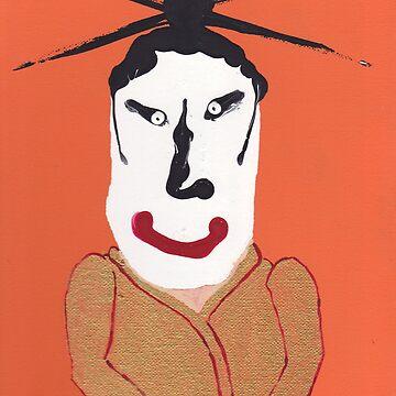 Kabuki - Martin Boisvert - Face à flaques by martinb1962