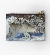 Rocky Mountain gray wolf Studio Pouch