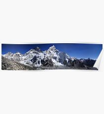 Landscape Snowy Mountains, HD Photograph Poster