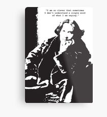 Oscar Wilde Metalldruck