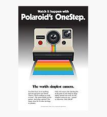 Retro Vintage Polaroid Camera Poster / Sticker Photographic Print