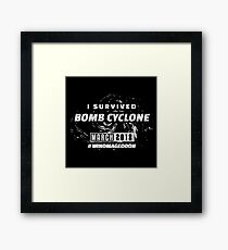 I survived Bomb Cyclone Framed Print