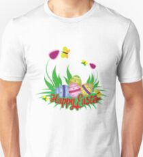Cute easter puns gifts merchandise redbubble happy easter cute easter egg hunting unisex t shirt negle Image collections