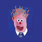 « Portrait inspiré de Jean Charest - Martin Boisvert - Faces à flaques » par Martin Boisvert