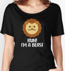 Funny, cute lion graphic art Women's Relaxed Fit T-Shirt