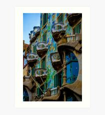 Casa Batllo by Gaudi in Barcelona Art Print