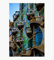 Casa Batllo by Gaudi in Barcelona Photographic Print