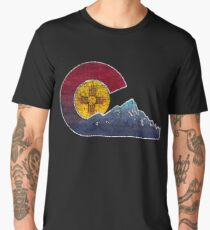 New Mexico To Colorado Transplant Flag Inspired Men's Premium T-Shirt