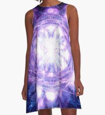 Purple People Pleaser | Fractal Art by Douglas James A-Line Dress