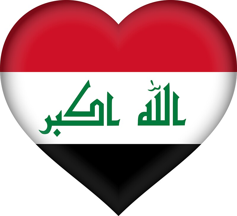 I love iraq flag sticker by bokrok