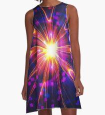 Crystal Disco Star | Fractal Art by Douglas James A-Line Dress