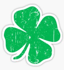 Vintage  Four Leaf Clover Sticker