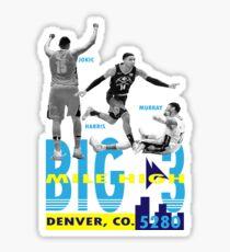 Denver Nuggets Big 3 Sticker