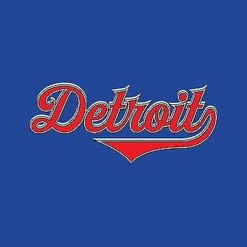 Detroit City Michigan USA - Vintage Sports Typography by Urban-Zone