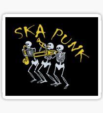 Skeleton Ska Punk For Lyfe Sticker
