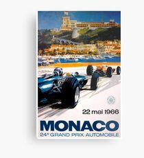 MONACO GRAND PRIX; Jahrgang 1966 Auto Racing Print Metalldruck