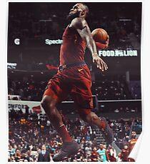 LeBron James dunk Poster