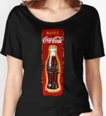 VINTAGE COLA BEVERAGE ADVERTISEMENT SIGN Women's Relaxed Fit T-Shirt