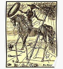 DON QUIXOTE : Vintage Dali Abstract Painting Print Poster