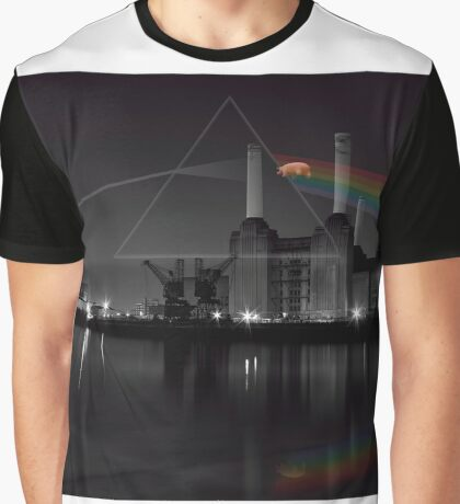 Battersea pink floyd pig and prism Graphic T-Shirt