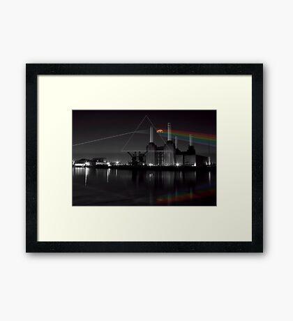 Battersea pink floyd pig and prism Framed Print