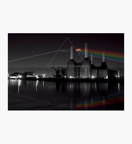 Battersea pink floyd pig and prism Photographic Print