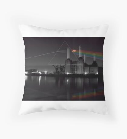 Battersea pink floyd pig and prism Floor Pillow