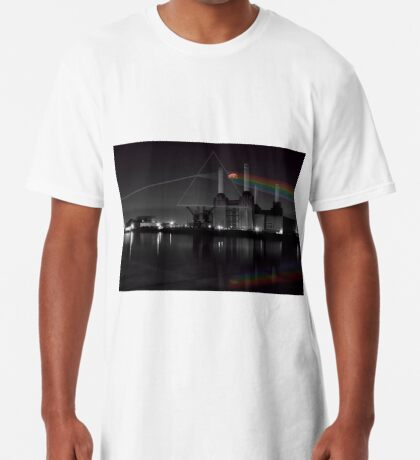 Battersea pink floyd pig and prism Long T-Shirt