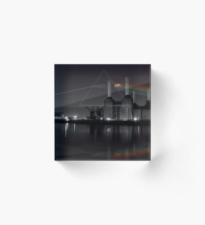 Battersea pink floyd pig and prism Acrylic Block