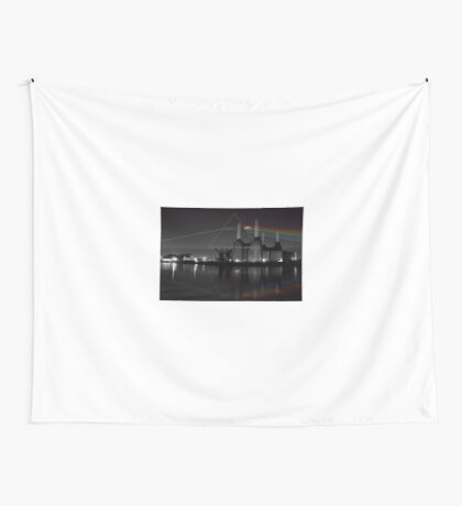 Battersea pink floyd pig and prism Wall Tapestry