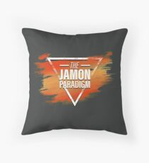 Jamon Paradigm Condensed Logo Throw Pillow